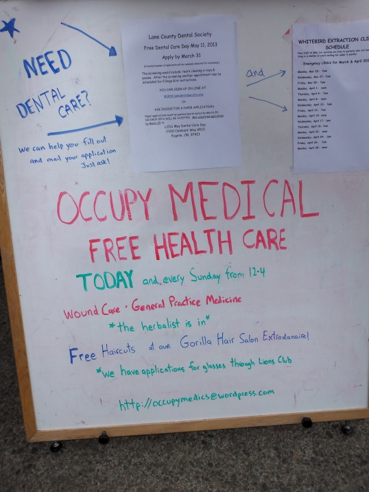 There is always something going on at Occupy Medical.